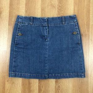 J.Crew Jean Mini Skirt